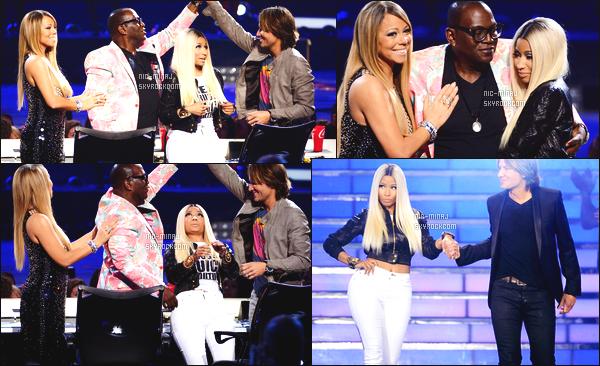 ------- 16/05/13:  La sublime Nicki Minaj photographiée en press room pour la final de « American Idol » -   Los Angeles.  Gros top pour cette tenue tous comme pour la perruque blonde longue. Bravo à la gagnante Candice Glover. Top/Flop pour cette tenue ?  -------
