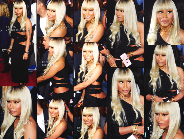 ------- 06/04/16 : La rappeuse Nicki Minaj  photographiée à l'avant premiére du film  « BaberShop 3 » - à  Los Angeles. Je suis vraiment  fan de cette tenue elle a la classe tout en noir j'aime l'effet ouvert sur la poitrine je lui met un énorme top pour elle. -------