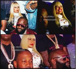 -------  23/06/16 : Notre merveilleuse Nicki Minaj photographiée  dans la boite  de nuit  « Play House  » - dans Los Angeles. On ne voit trop la tenue peu de photos de bonne qualitée. Un peu déçue toujours qu'elle porte cette perruque blonde mais cela lui va bien. -------