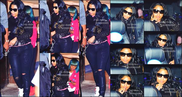------- 28/08/16: Notre princesse  Nicki Minaj   photographiée apres la soirée des   «  MTV VMAs 2016 » -  dans  New York.  Flop pour la tenue, et pour les photos, je me demande pourquoi miss Nicki elle fait la gueule sur les photos, top pour les lunettes de soleil. -------
