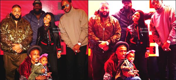 ------- 18/11/16:  Nicki Minaj aux les repetitions lors de son show pour les   « American Music Award »  -  Los Angeles.  Sur les photos, elle est accompagnée de  August Alsina, Rick Ross, Dj Khaled & Future. J'adore les cheveux et  la tenue de Nicki.  Gros top. -------
