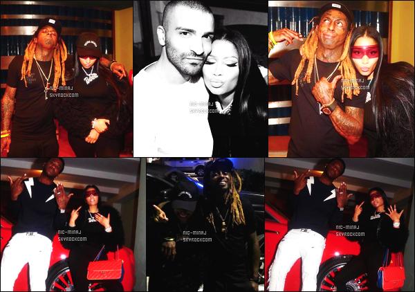 '''''''''''''''''''''' ---------------------- DES PHOTOS  DE NICKI SUR LES RÉSEAUX SOCIAUX - Février 2017.   Photos personnelle de Nicki sur Instagram avec plein de monde comme Lil Wayne, Gucci Mane. J'aime  la fourrure noire. Gros top.  ''''''''''''''''''''''