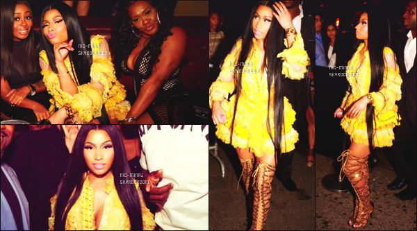 '''''''''''''''''''''' -------------------------- DES PHOTOS  DE NICKI SUR LES RÉSEAUX SOCIAUX - Juin 2017.   • Photos personnelle sur  Instagram de notre jolie Nicki.   Nicki Minaj arrivant à l'after party de Drake après les  NBAAwards. Top la tenue.  ''''''''''''''''''''''