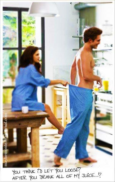 Image trop marrante de Bella & Edward pendant leur lune de miel.