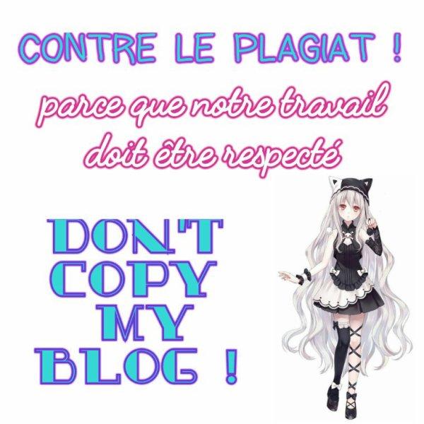 Je suis contre le plagiat !!