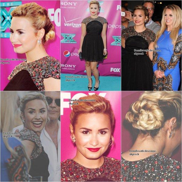Demi a assisté a la premier de la deuxième saison de X FACTOR le 11 septembre a  Handprint au théâtre chinois de Grauman à Hollywood en Californie
