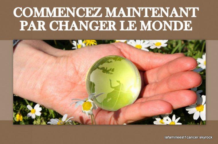 """SUITE ET FIN DE """" CHANGER LE MONDE """""""