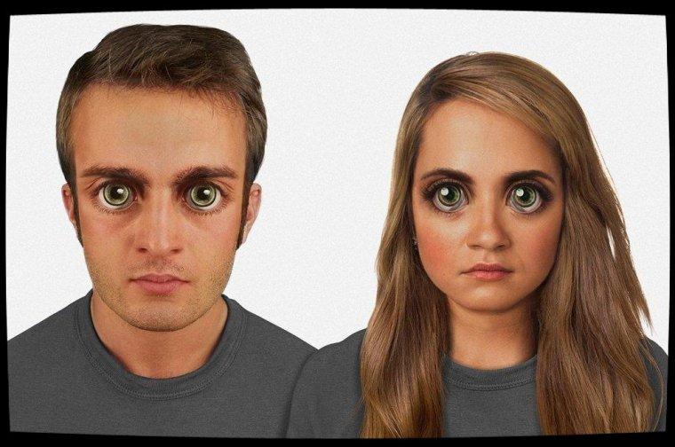 Evolution du visage humain dans 100 000 ans