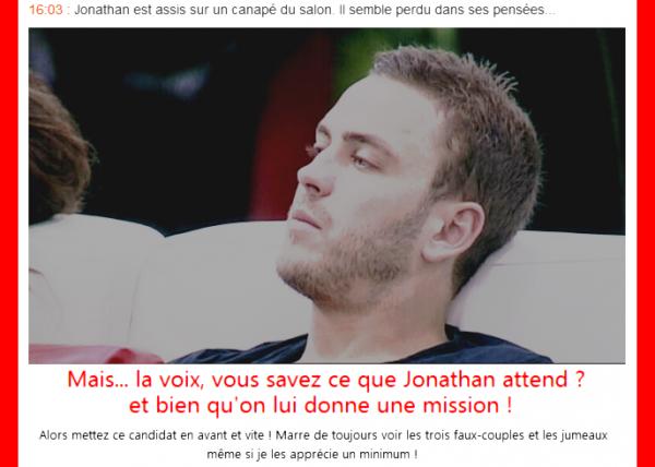 Jonathan - Secret Story 5 (Ne l'oubliez pas !)