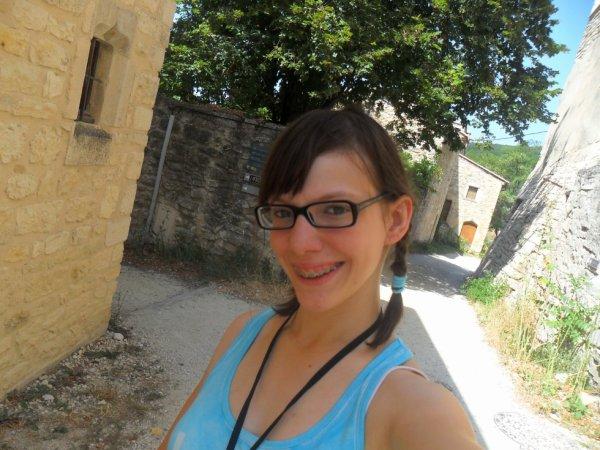Moi en vacances en Drôme provençale