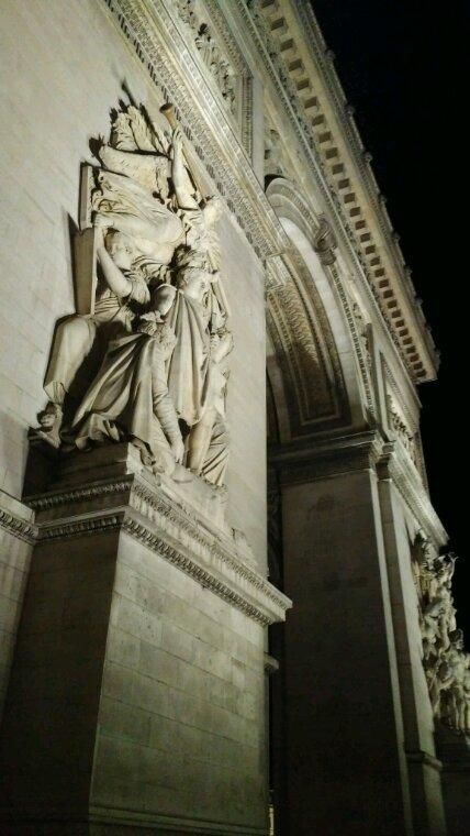 Au pied de l'arc de triomphe