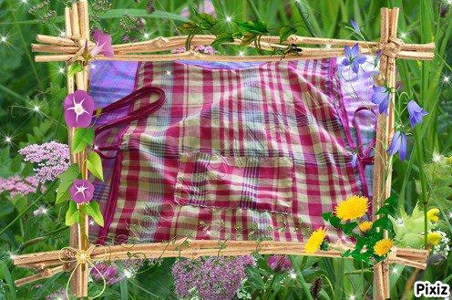 tabliers écoliers en tissu madras n° 2