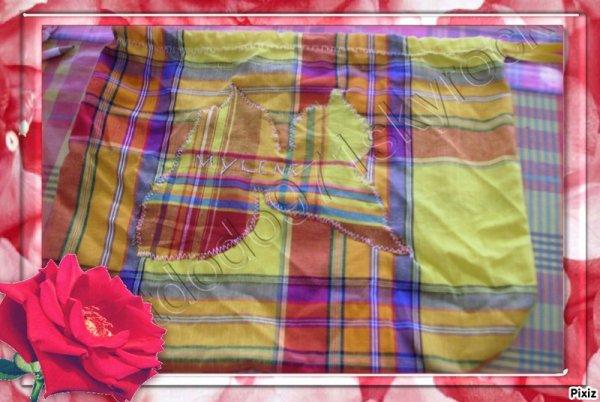 le sac de goûter en tissu de madras n°1