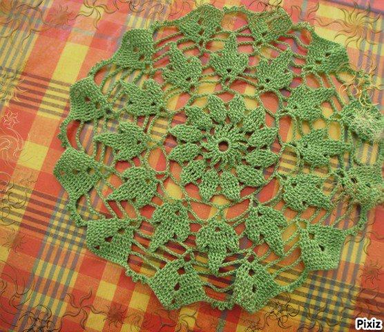 napperon vert