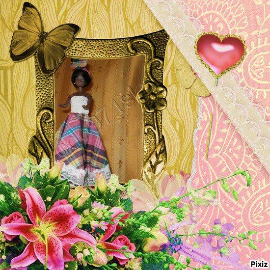 commande d'une poupée en crochet et madras