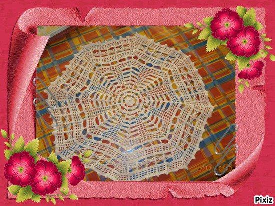 napperon octogonal en blanc