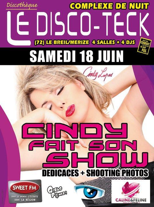 """Samedi 18 Juin """" Cindy Lopes """" fait sont show"""