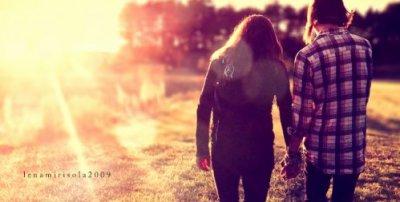Et d'un seul coup, tu es entré dans ma vie.