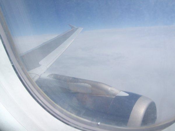 Dans l'avion en Tunisie
