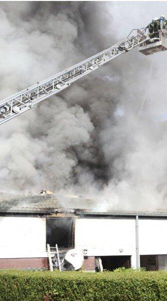 Un Violent incendie endommages six habitations à Marbais ( Villers-la-Ville ) Samedi le 1 Septembre 2012