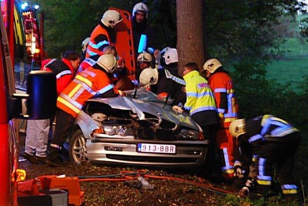 Un blessé grave à Dinant ( Boisseilles ) , le 30 octobre 2010