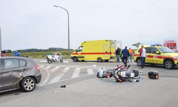 Blessé dans une collision à Spy , le 23 septembre 2012
