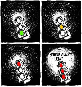 [People always leave...]