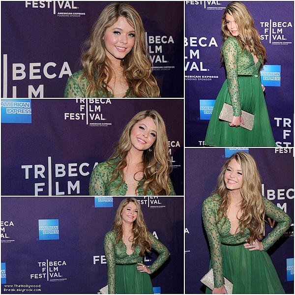 19/04/13 : La jolie Sasha Pieterse était  au Tribeca Film Festival pour présenter son film G.B.F à NewYork City.