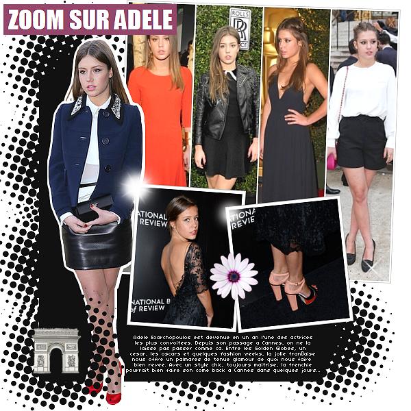 _'MODE_' | Le style d'Adèle Exarchopoulos de retour à Cannes.