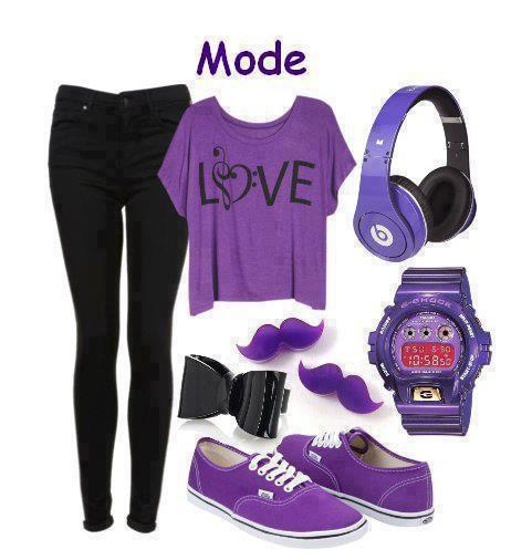 Ma toute nouvelle tenue tous en violet