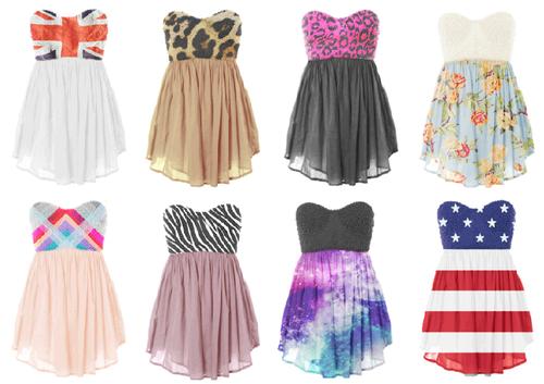 Plusieurs robe que j'adore