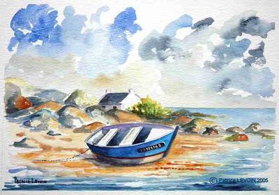 Aquarelle Bretagne 017 aquarelle - la bretagne - artiste peintre : aquarelles huiles et