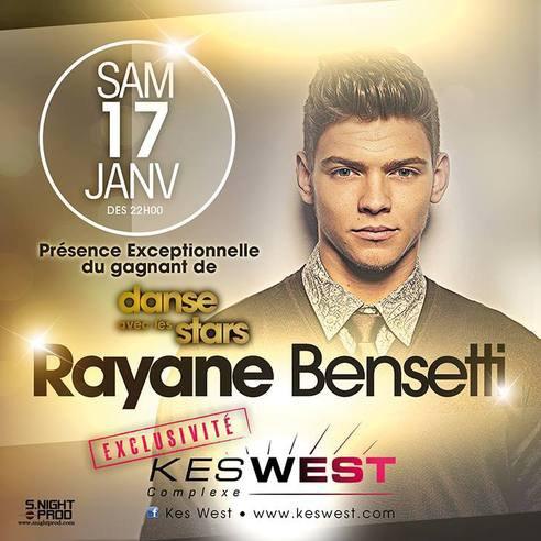 "Rayane Bensetti au ""Complexe KesWest"" (62) le 17 Janvier ! ♥♥"