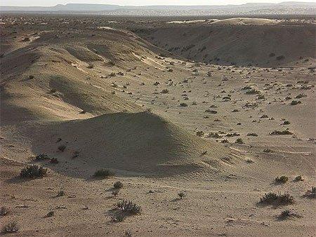 Cratère de météorite  région  tataouine et medenine