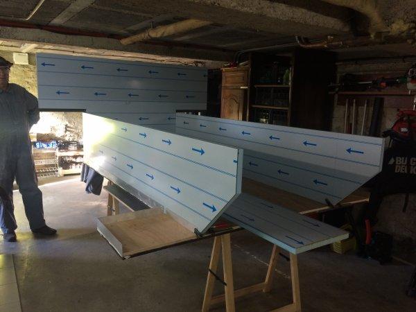 la construction de la caisse