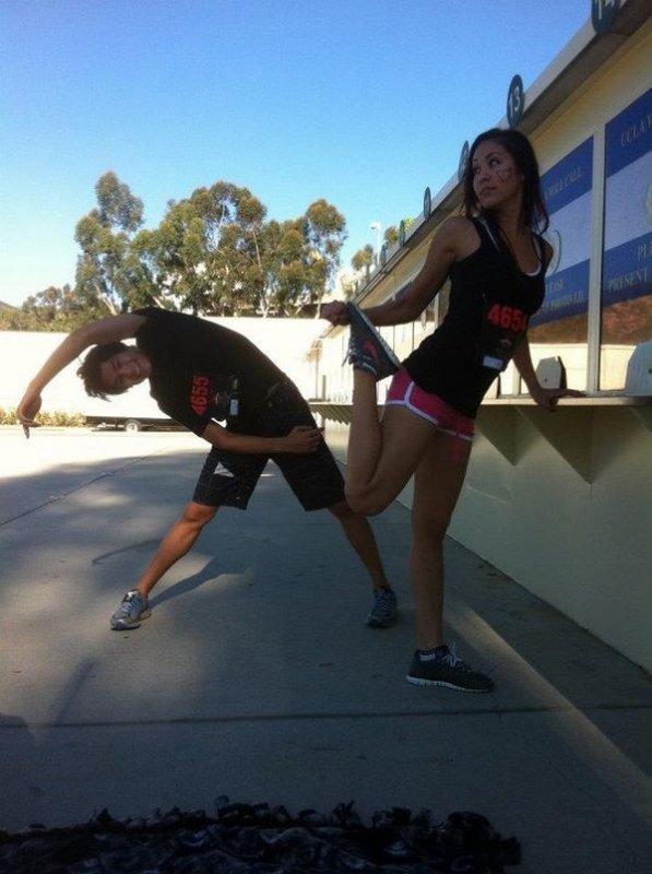 Booboo & Maegan ont partcipé a la course Gladiator