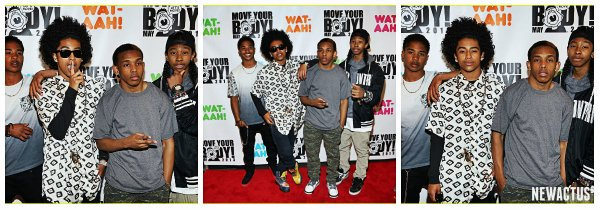 1/05/13 Les mindless behavior au WAT-AAH! Fondation Move Your Body Workout 2013