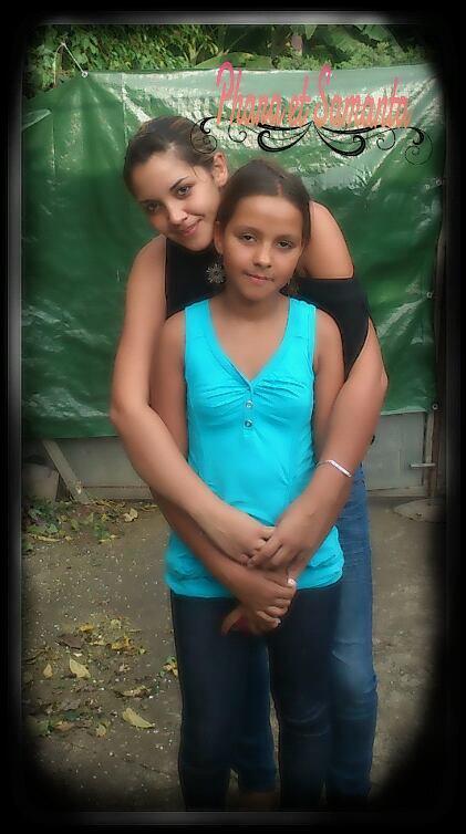 ma plus grande nièce et moi