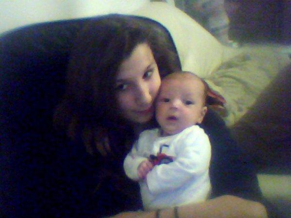 ma fille et la marraine de mon fils cameron