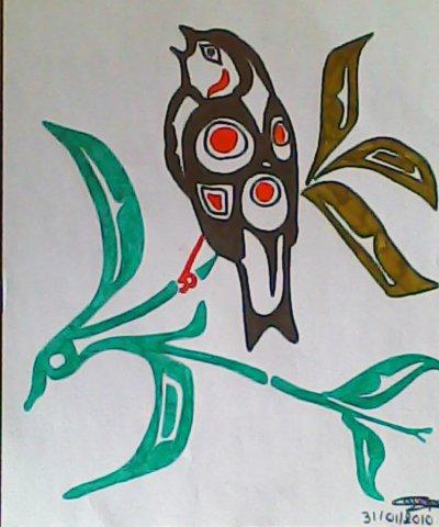 Oiseau tribal
