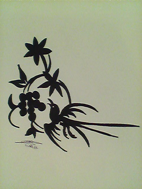 Oiseau + fleur