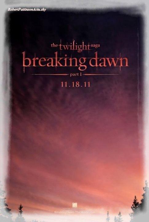 L'affiche de Breaking Dawn Part 1 Enfin Dévoilée ! !