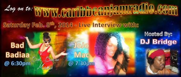 INTERVIEW BAD BADIAA ON AIR IN CARRIBEAN JAM RADIO SATURDAY AT 22H30 (FRANCE)