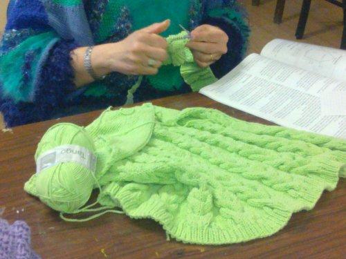 les derniers ouvrages du club de tricot et crochet