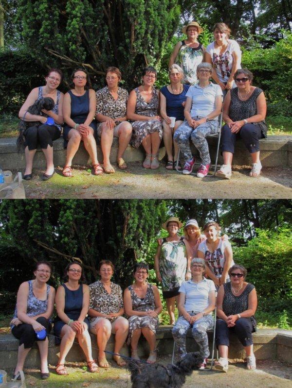 Juillet 2014 : rencontre du club de tricot et crochet en plein air