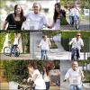 ;  _ Candids (Flashback) _     ;   13.2OO8 :  Miley faisait du vélo avec son père Billy Ray Cyrus & des amies a elle . Je trouve que Miley a vachement changer .