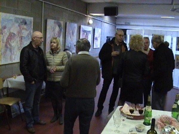Milau, André, Franca, Silvio, Angelo, Martine et  Michel