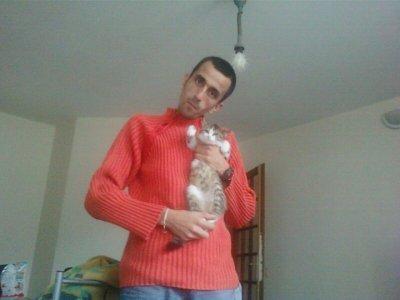 mon homme et nore chat mimine