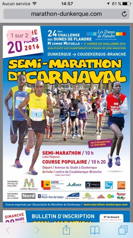 Prochain semi marathon