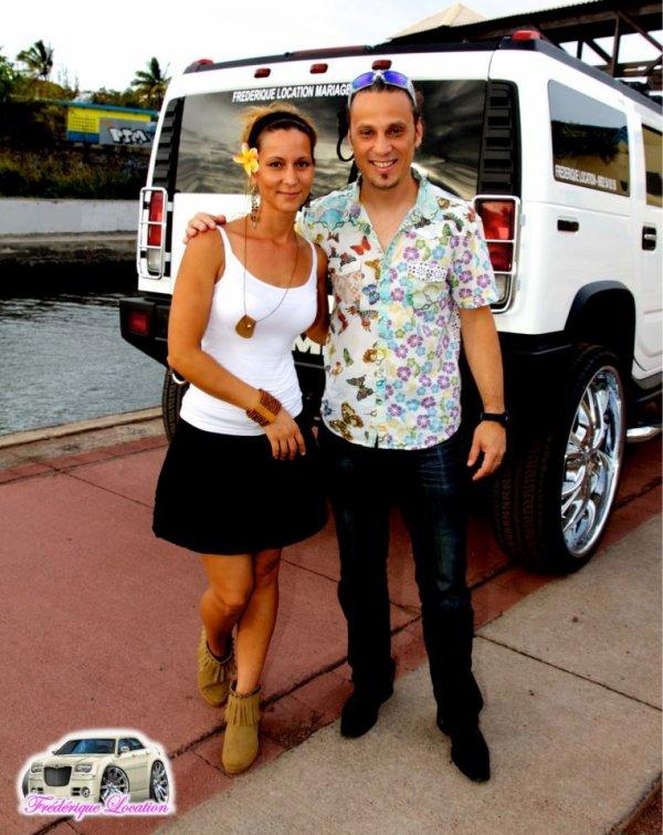 MISS REUNION 2012 STEPHANIE ROBERT avec FREDERIQUE LOCATION pour le tournage du spot SONOSTAR
